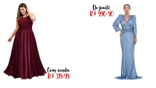 preços de vestidos de madrinha longo