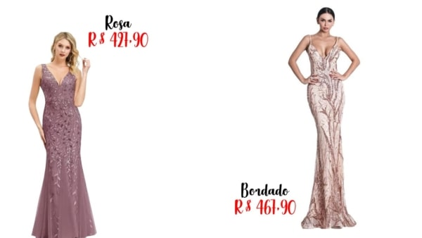 modelos e preços de vestidos de madrinha longo