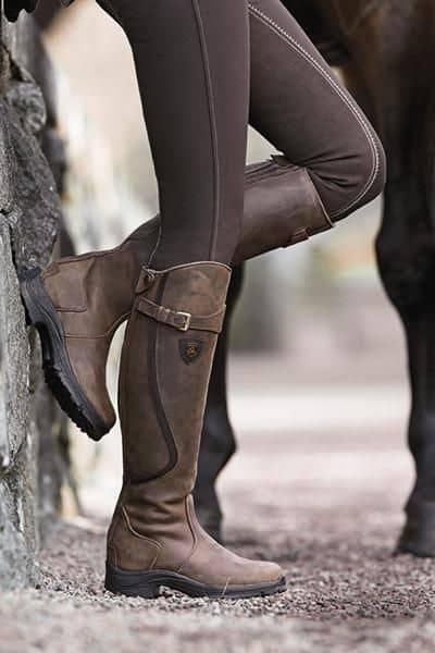 bota montaria marrom com legging