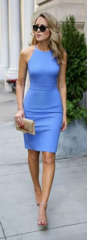 look festa com vestido azul