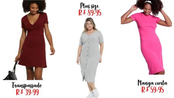 modelos e onde comprar vestidos basicos