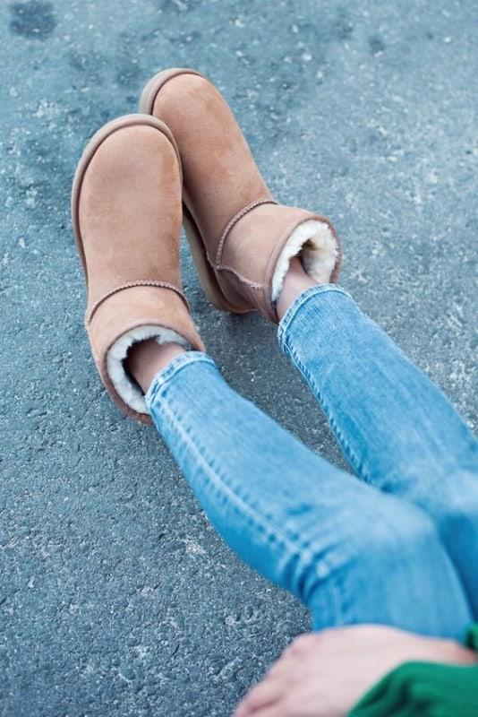 bota marrom com la