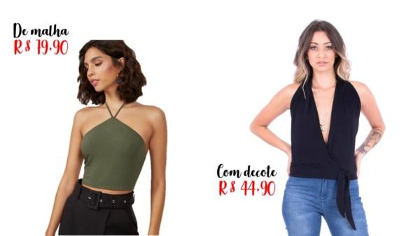 modelos e precos de blusa frente unica