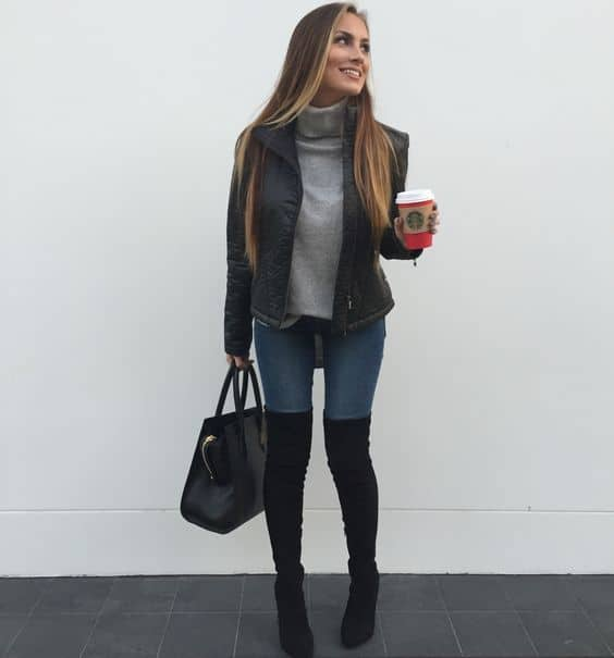 looks com bota over the knee 23