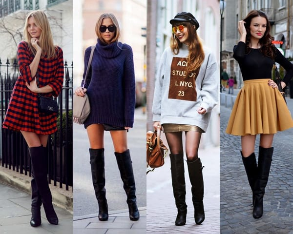 looks com bota over the knee 28