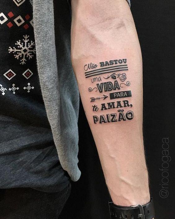tatuagem para pai com frase