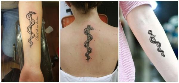tatuagem com simbolo da medicina