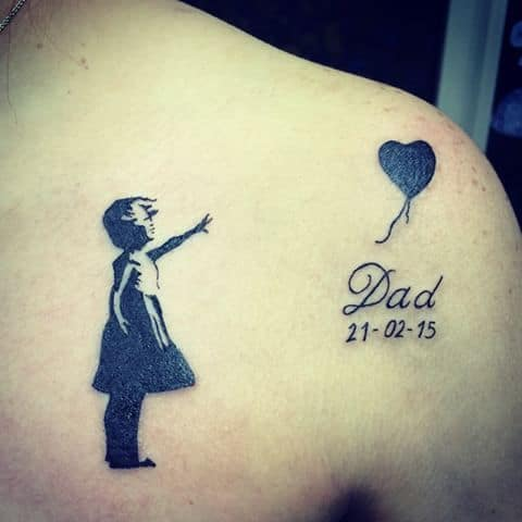 tatuagem no ombro para pai falecido