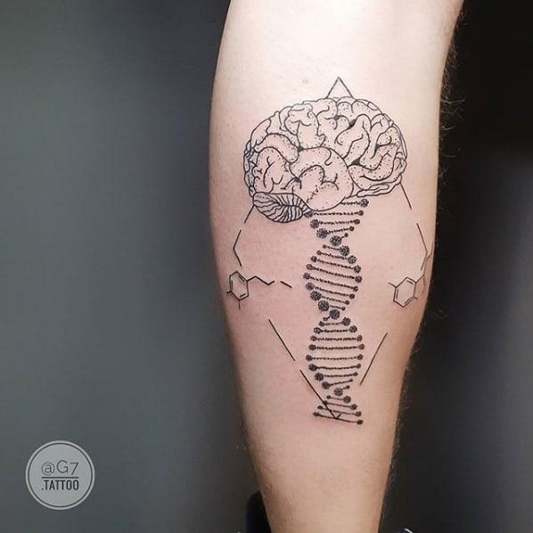 tatuagem moderna e diferente para medicina
