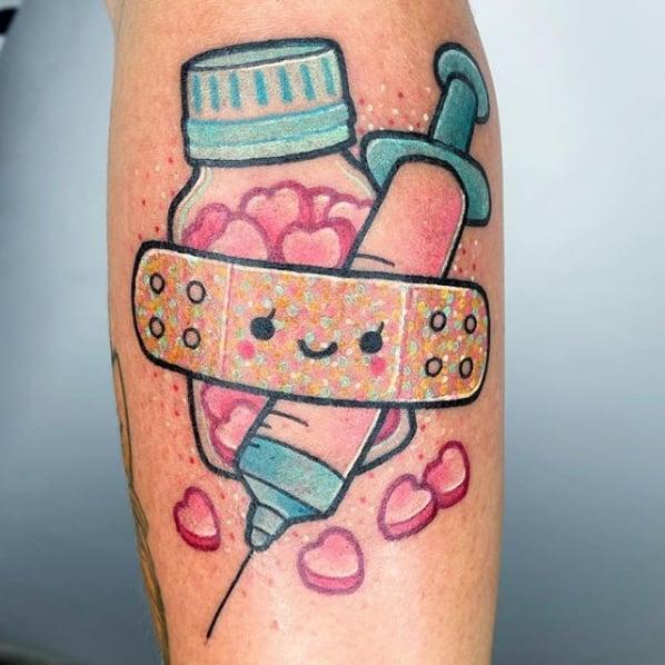 tatuagem colorida para medicina pediatra