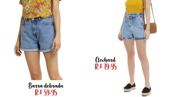 precos e onde comprar short mom jeans