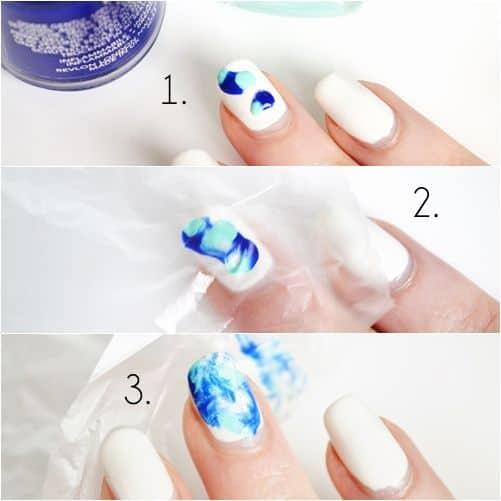 como fazer passo a passo nail art tie dye