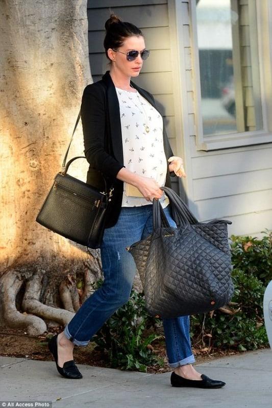 moda gestante com jeans