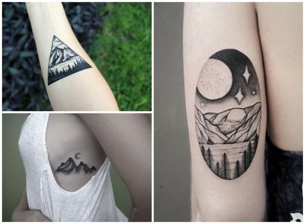 tatuagem feminina de natureza