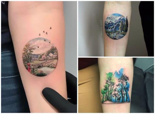 tatugem colorida natureza