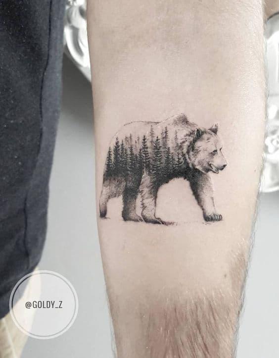 significado de tatuagem de urso