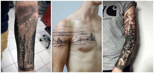 tatuagem masculina de natureza