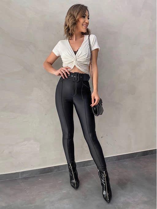 como usar calca montaria de cintura alta com cinto