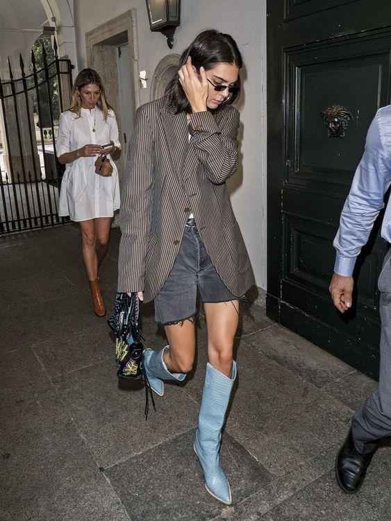 bota azul como usar destaque
