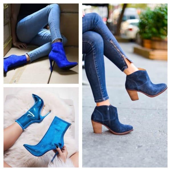 bota azul estilos