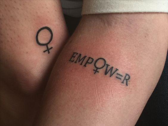 tatuagem feminista conceitual
