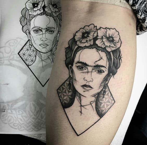 tatuagem feminista frida