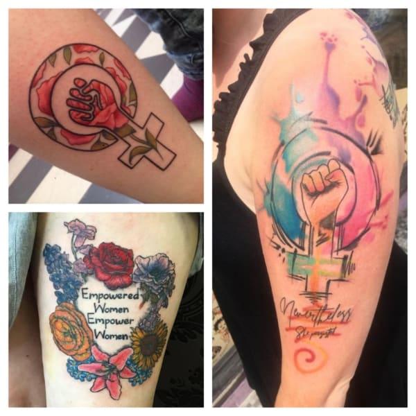 tatuagens feministas modelos