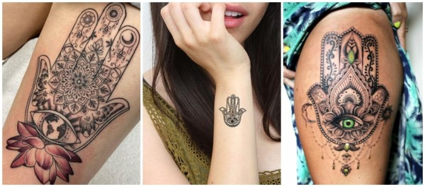 tatuagens de protecao Hamsa