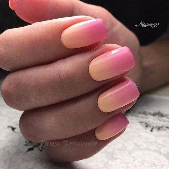 decoracao degrade e colorida para unhas