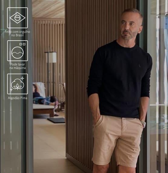 look masculino com marca brasileira