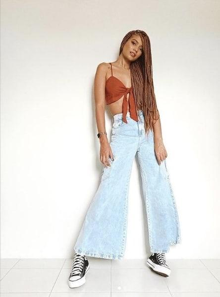 look feminino com marca de roupa brasileira