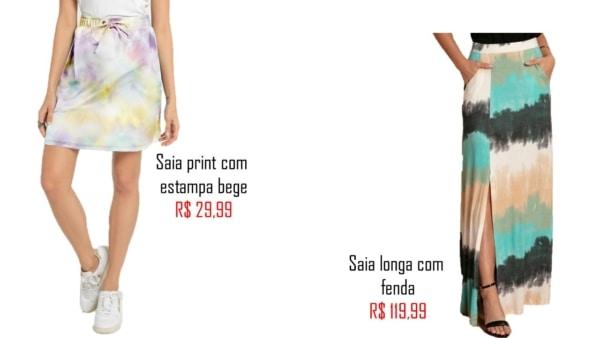modelos de saia tie dye
