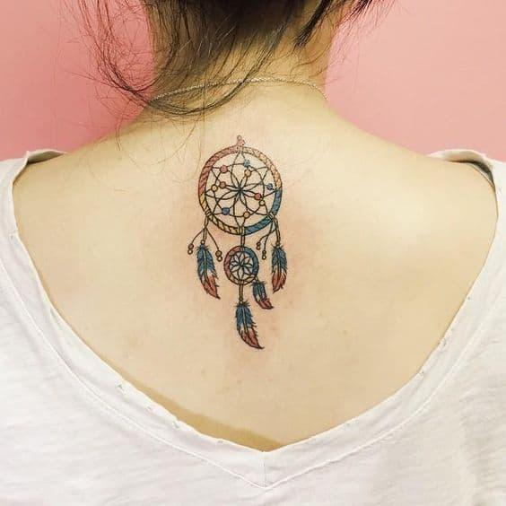 tatuagem de protecao de filtro dos sonhos