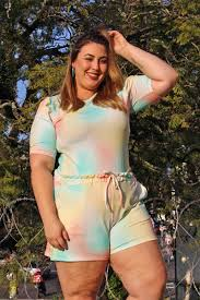 look plus size tie dye