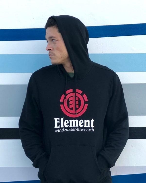 look masculino com marca de roupa Element