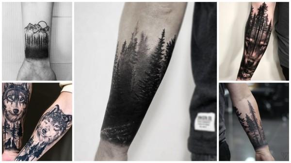 ideias de tatuagem floresta negra