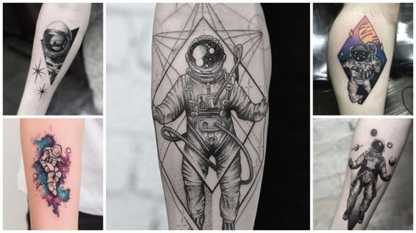 significado e ideias de tatuagem de astronauta