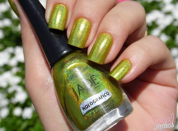 esmalte holografico verde