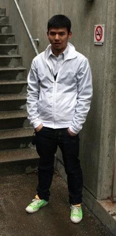 look com jaqueta corta vento branca masculina