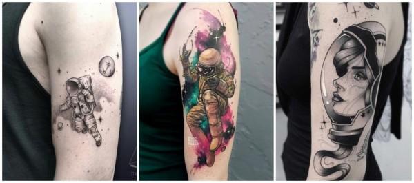 ideias de tatuagem feminina de astronauta