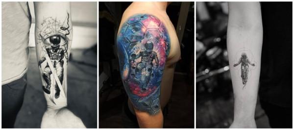 ideias de tatuagem masculina de astronauta