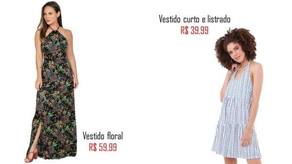 onde comprar e precos de vestido frente unica