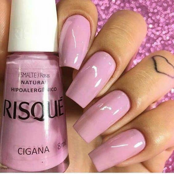 esmalte Risque rosa