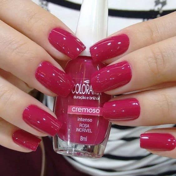 esmalte rosa escuro da Colorama