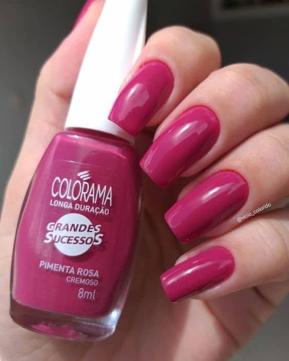 esmalte pink da Colorama