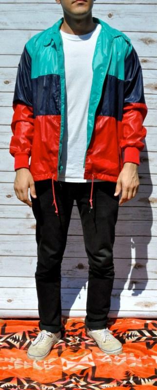 look com jaqueta corta vento colorida masculina