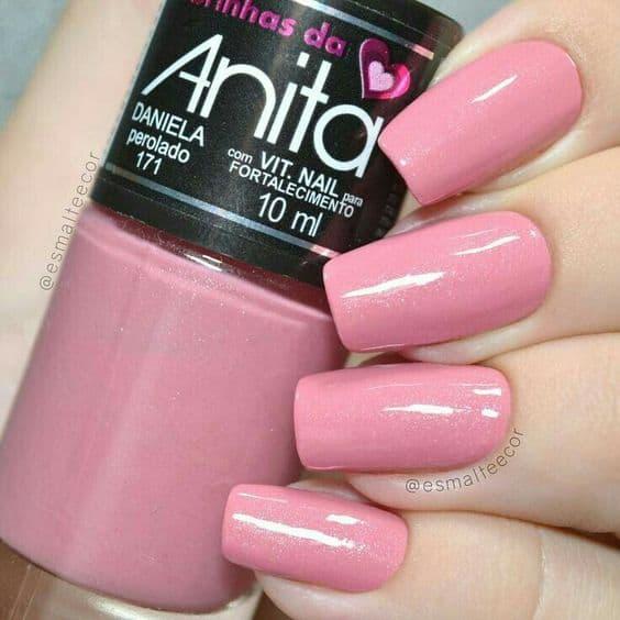 esmalte rosa perolado Anita