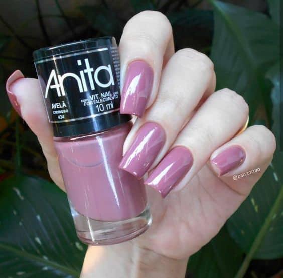 esmalte rosa antigo Anita
