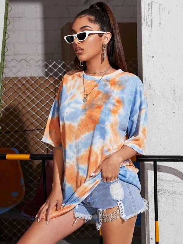 look camiseta shibori 25