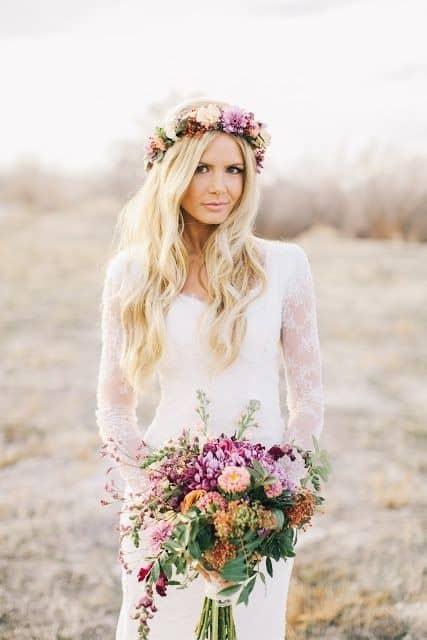 tiara de flores para noivas 15